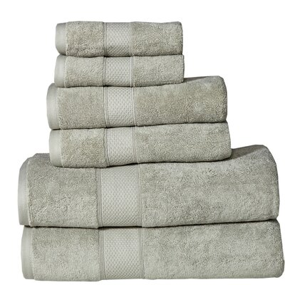 Fleener Hudson 6 Piece Towel Set Color: Sage