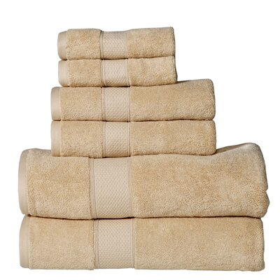 Polywood Hudson 6 Piece Towel Set Color: Buttercup