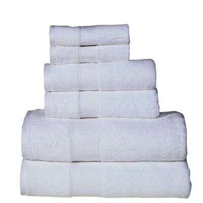Fleener Hudson 6 Piece Towel Set Color: White