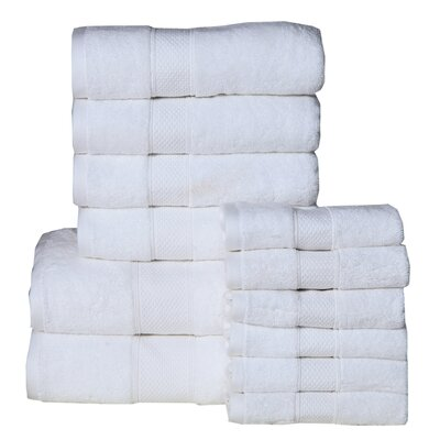 Idaho Falls 12 Piece Towel Set Color: White