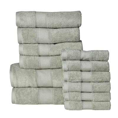 Idaho Falls 12 Piece Towel Set Color: Sage