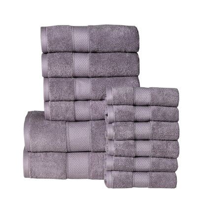 Idaho Falls 12 Piece Towel Set Color: Lilac