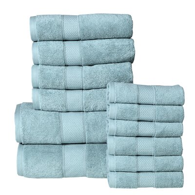 Idaho Falls 12 Piece Towel Set Color: Turquoise