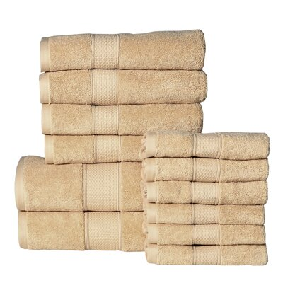 Idaho Falls 12 Piece Towel Set Color: Buttercup