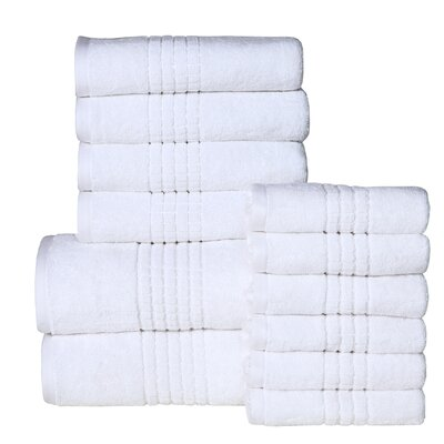 Campbelltown 12 Piece Towel Set Color: White