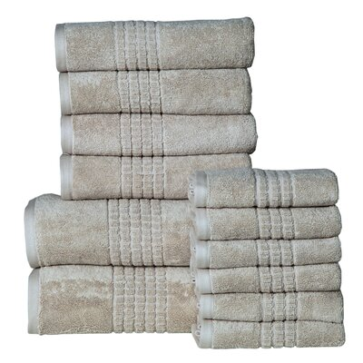 Campbelltown 12 Piece Towel Set Color: Canvas