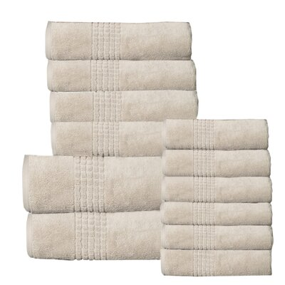 Campbelltown 12 Piece Towel Set Color: Beige
