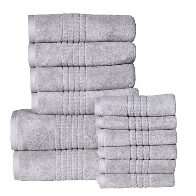Campbelltown 12 Piece Towel Set Color: Silver