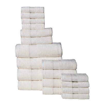 Idaho Falls 18 Piece Towel Set Color: Ivory