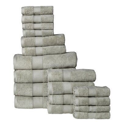 Idaho Falls 18 Piece Towel Set Color: Sage