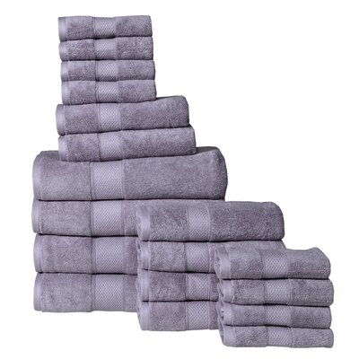 Idaho Falls 18 Piece Towel Set Color: Lilac