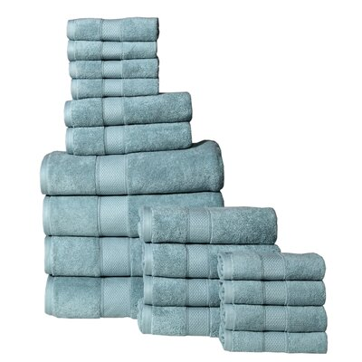 Idaho Falls 18 Piece Towel Set Color: Turquoise