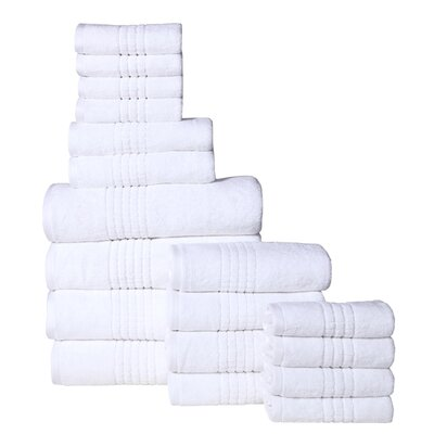 Campbelltown 18 Piece Towel Set Color: White