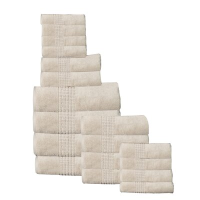 Campbelltown 18 Piece Towel Set Color: Beige