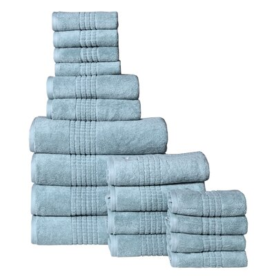 Campbelltown 18 Piece Towel Set Color: Sea Blue