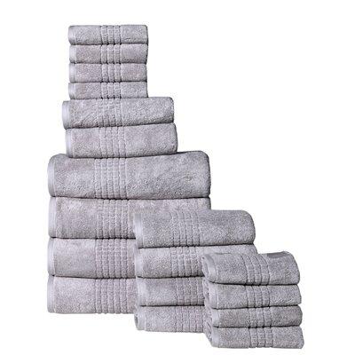 Campbelltown 18 Piece Towel Set Color: Silver