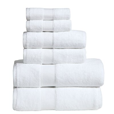 Fleener Hudson 6 Piece Towel Set Color: Dark White