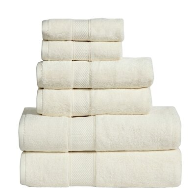 Fleener Hudson 6 Piece Towel Set Color: Ecru