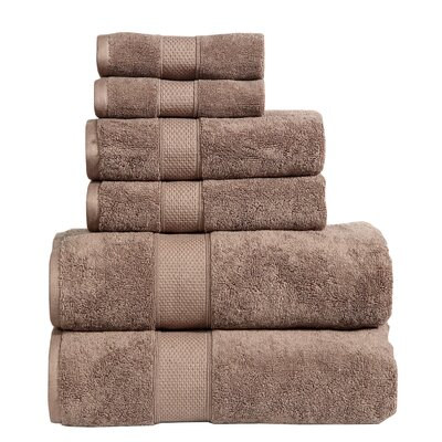 Fleener Hudson 6 Piece Towel Set Color: Mocha