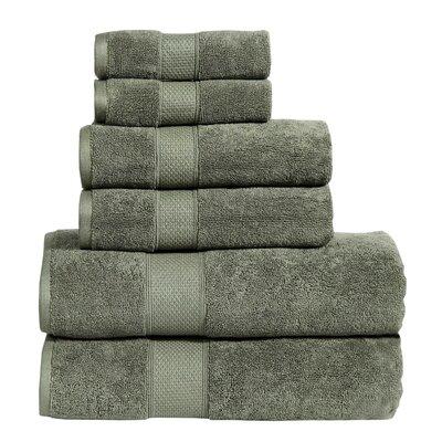 Fleener Hudson 6 Piece Towel Set Color: Cypress