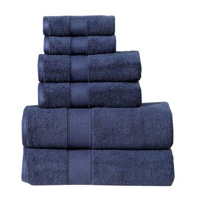 Fleener Hudson 6 Piece Towel Set Color: Dark Blue