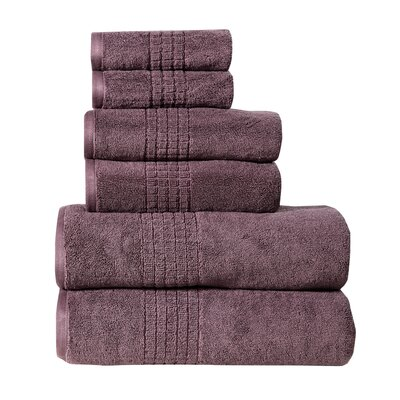Polywood Mosaic Towel Set Color: Plum