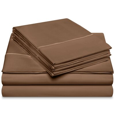 Chassidy 800 Thread Count 100% Cotton 6 Piece Sheet Set Size: Queen, Color: Taupe