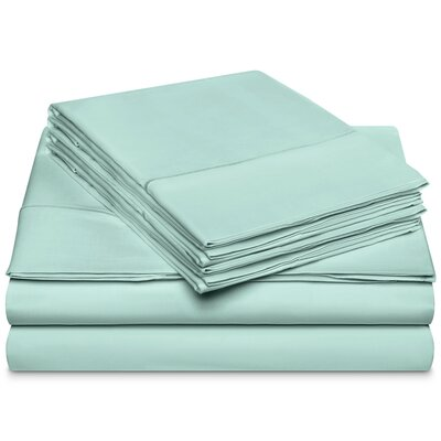 Chassidy 800 Thread Count 100% Cotton 6 Piece Sheet Set Size: King, Color: Blue