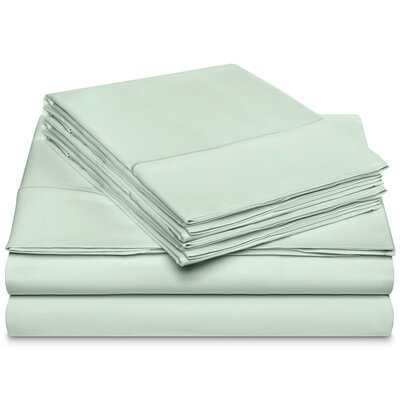 Chassidy 800 Thread Count 100% Cotton 6 Piece Sheet Set Size: Queen, Color: Ballad Blue