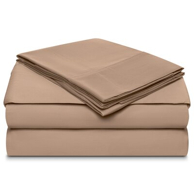 Ansel 500 Thread Count 100% Cotton 4 Piece Sheet Set Size: Full, Color: Linen