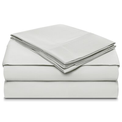 Ansel 500 Thread Count 100% Cotton 4 Piece Sheet Set Size: King, Color: Celedon