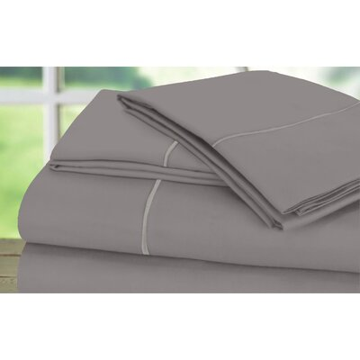Sunnie 600 Thread Count 100% Cotton Sheet Set Size: King, Color: Platinum