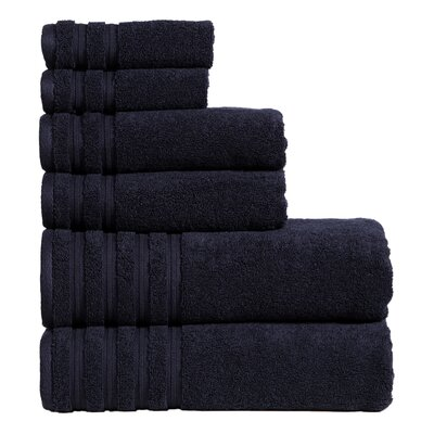 Quintanar 6 Piece Towel Set Color: Blue Berry