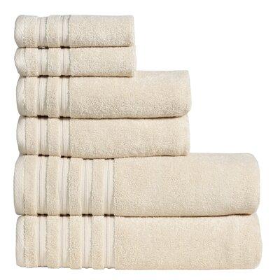 Quintanar 6 Piece Towel Set Color: Vanilla