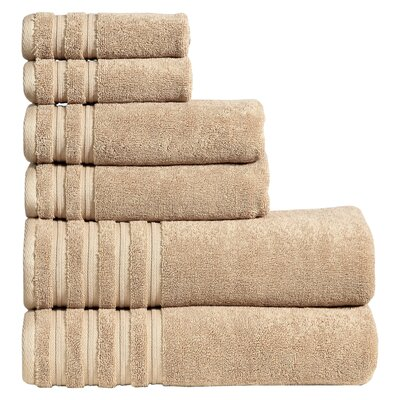 Quintanar 6 Piece Towel Set Color: Latte