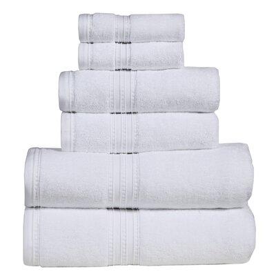 Quintanar 6 Piece Towel Set Color: White