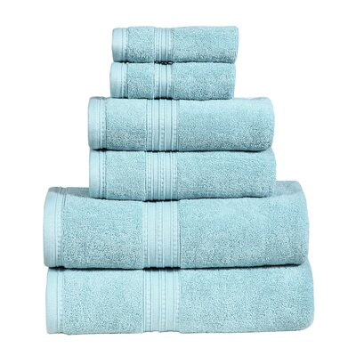 Quintanar 6 Piece Towel Set Color: Aqua Marine