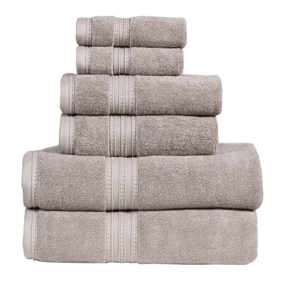 Quintanar 6 Piece Towel Set Color: Muddy Taupe
