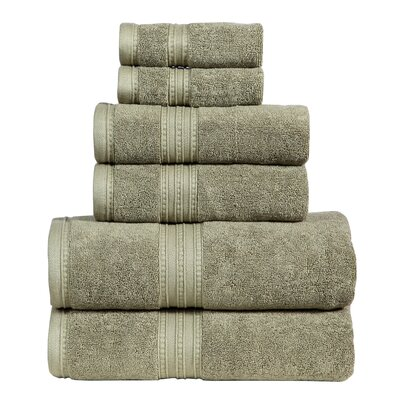 Quintanar 6 Piece Towel Set Color: Sage