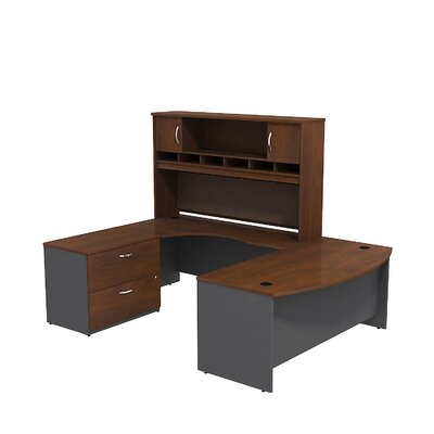 Series C Bow Front Desk Office Suite Finish: Hansen Cherry/Graphite Gray Product Picture 6883