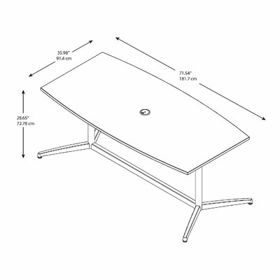 Series Boat Shaped Conference Table Top Product Image 138