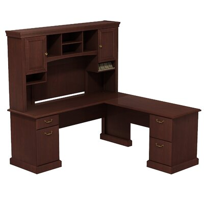 Syndicate L-Shape Office Desk with Hutch Finish: Harvest Cherry Product Image 21