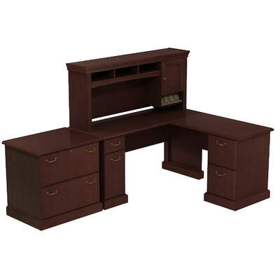 Syndicate L-Shape Desk Office Suite Finish: Harvest Cherry Product Image 433