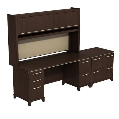 Enterprise Double Pedestal Desk Office Suite Finish: Mocha Cherry Product Image 433