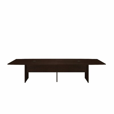 Boat shaped 29.78H x 47.6W x 119L Conference Table Finish: Mocha Cherry
