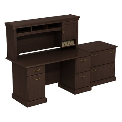 Syndicate Double Pedestal Desk Office Suite Finish: Mocha Cherry Product Picture 2547