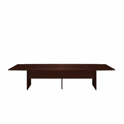 Boat shaped 29.78H x 47.6W x 119L Conference Table Finish: Harvest Cherry