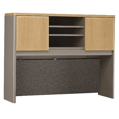 Series A 36.5 H x 47.52 W Desk Hutch Finish: Danish Oak/Sage