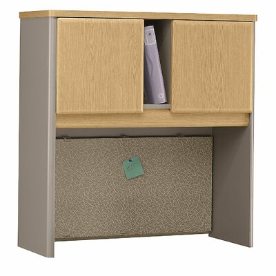 Series A 36.5 H x 35.5 W Desk Hutch Finish: Danish Oak/Sage