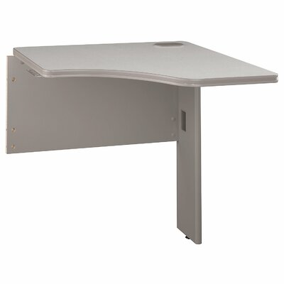 Series A 29.8 H x 29.45 W Desk Peninsula Finish: White Spectrum/Pewter